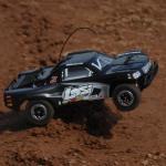 4WD Short Course Truck-Intl: Schwarz/Grau 1/24 LOSB0240IT4