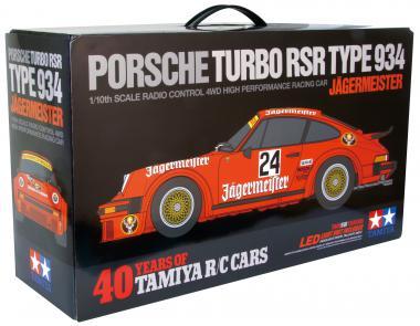 Tamiya 300084431 1:10 RC 40 Jahre Porsche 934 RSR Jägermeister