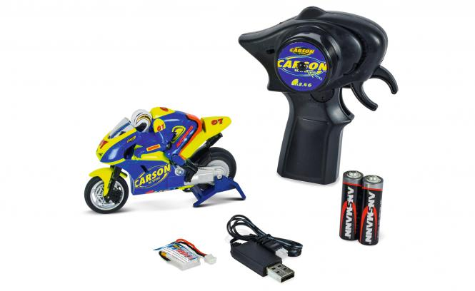 Carson 500404125 Micro Bike 100%RTR 2,4GHz Motorrad